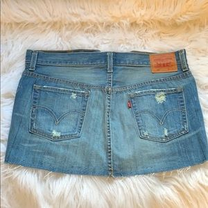 LEVI'S Deconstructed Denim Skirt NWOT